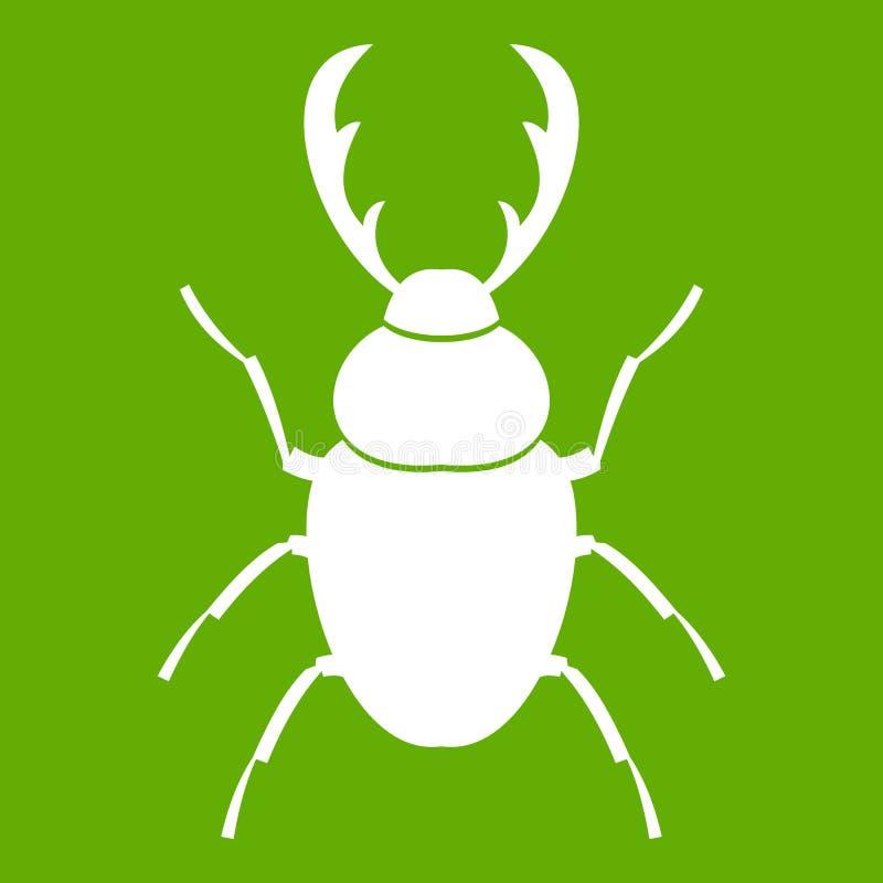 Verde del icono del escarabajo de macho stock de ilustración