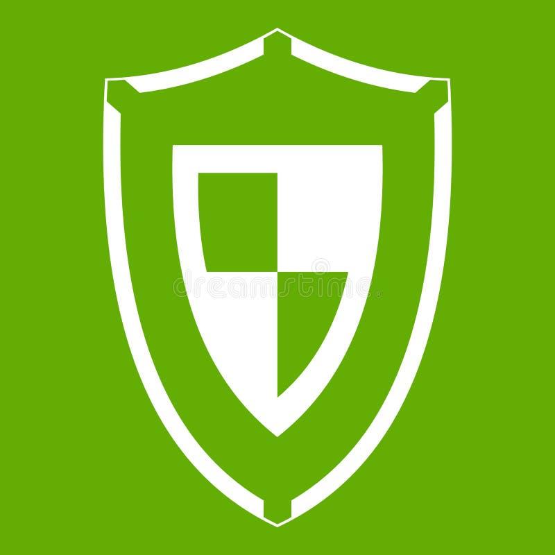 Download Verde del icono del escudo ilustración del vector. Ilustración de elemento - 100526043