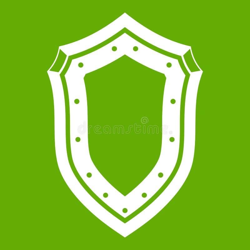 Download Verde del icono del escudo ilustración del vector. Ilustración de medieval - 100526114