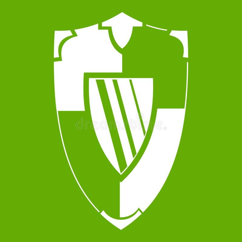 Download Verde del icono del escudo ilustración del vector. Ilustración de icono - 100526510