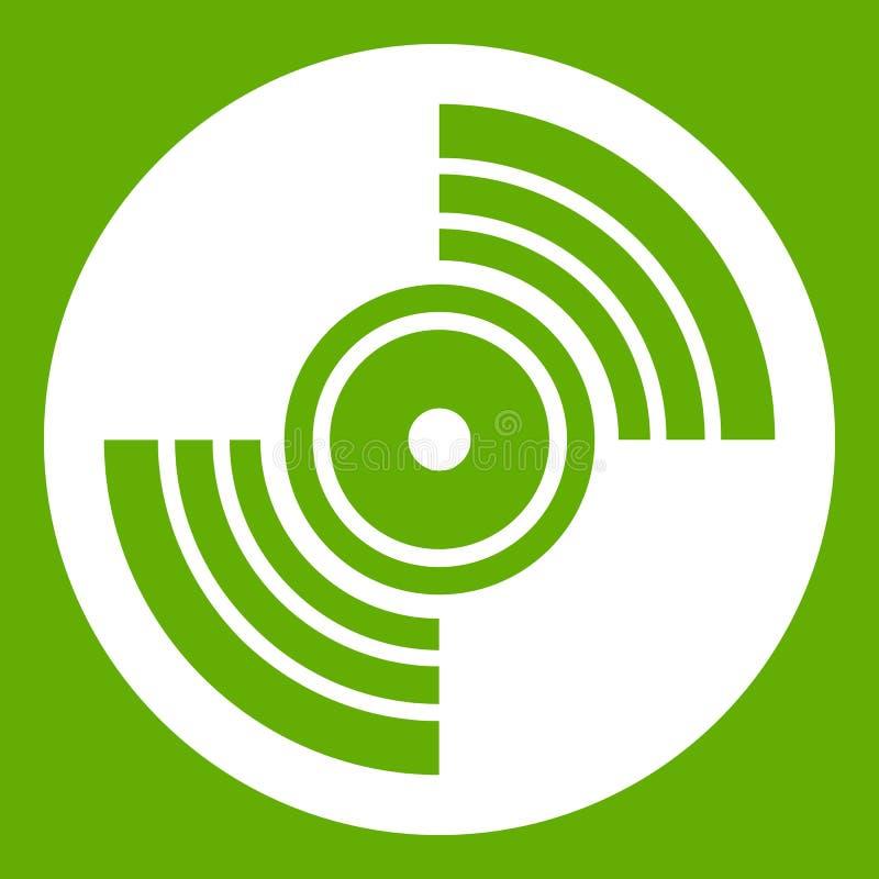 Verde del icono del expediente de LP del vinilo del gramófono stock de ilustración