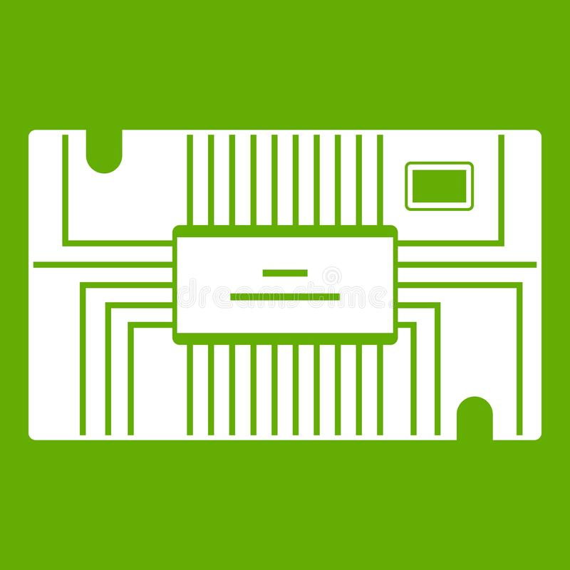 Verde del icono del microchip libre illustration