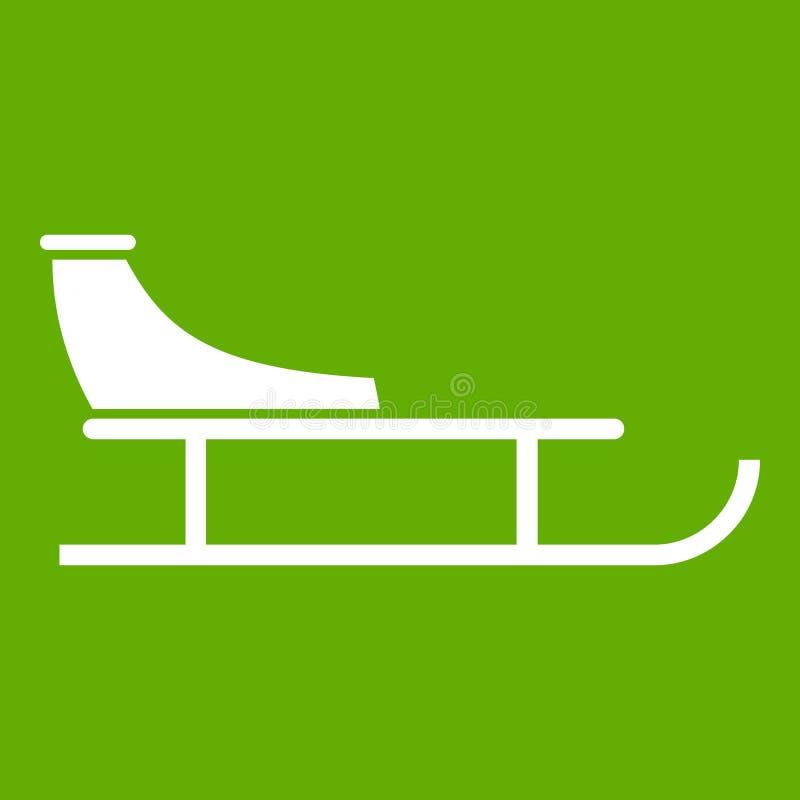 Verde del icono del trineo libre illustration
