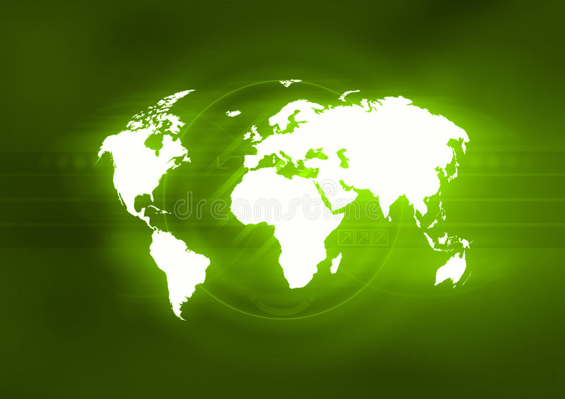 Verde del mundo libre illustration