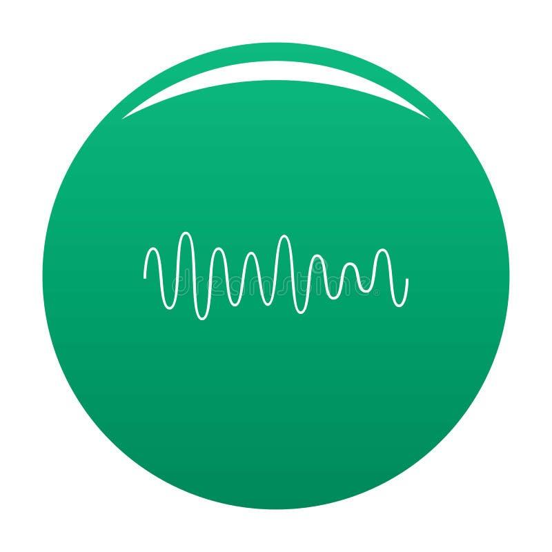Verde del vector del icono de los sonidos de la onda del equalizador libre illustration