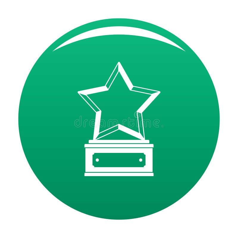Verde del vector del icono del premio de la estrella ilustración del vector