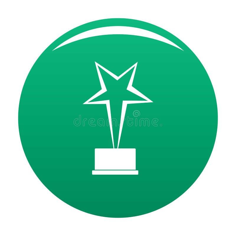 Verde del vector del icono del premio de la estrella libre illustration