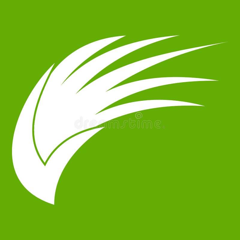 Verde dell'icona dell'ala royalty illustrazione gratis