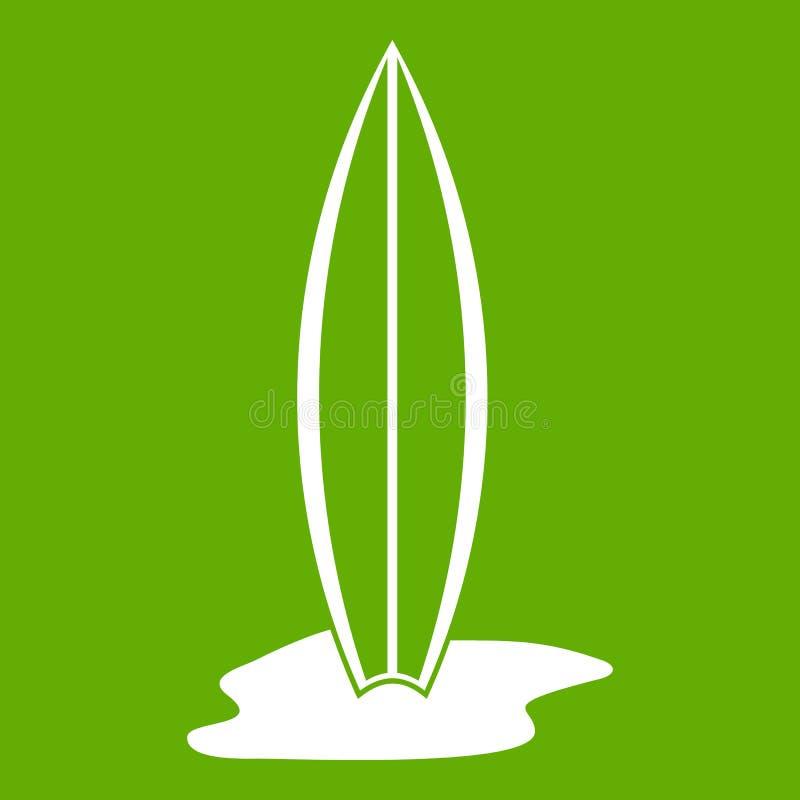Verde dell'icona del bordo di spuma illustrazione vettoriale
