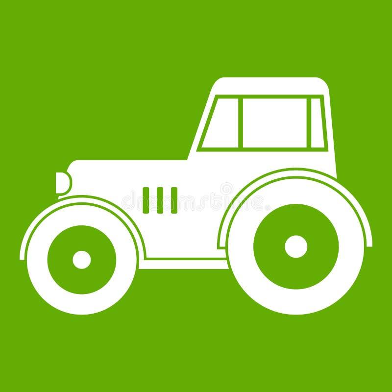 Verde dell'icona del trattore illustrazione vettoriale