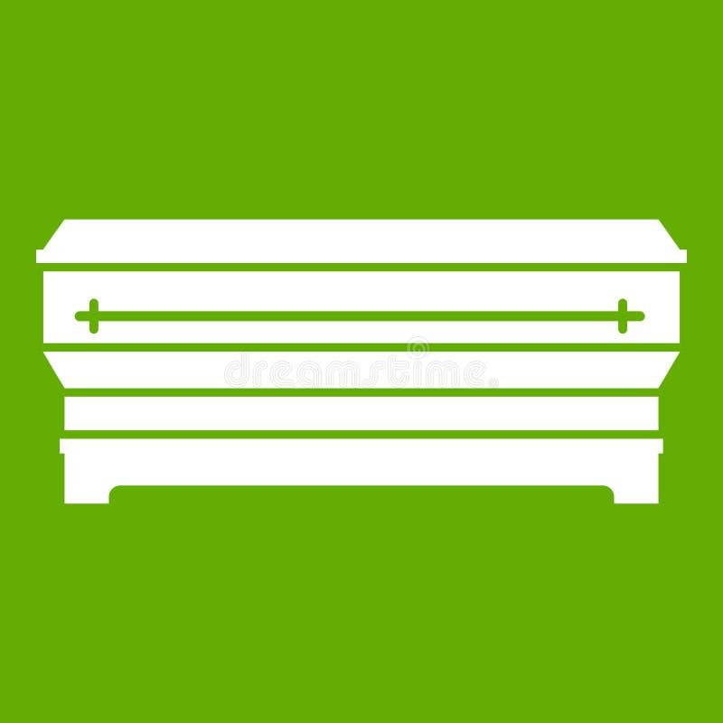 Verde dell'icona della bara royalty illustrazione gratis