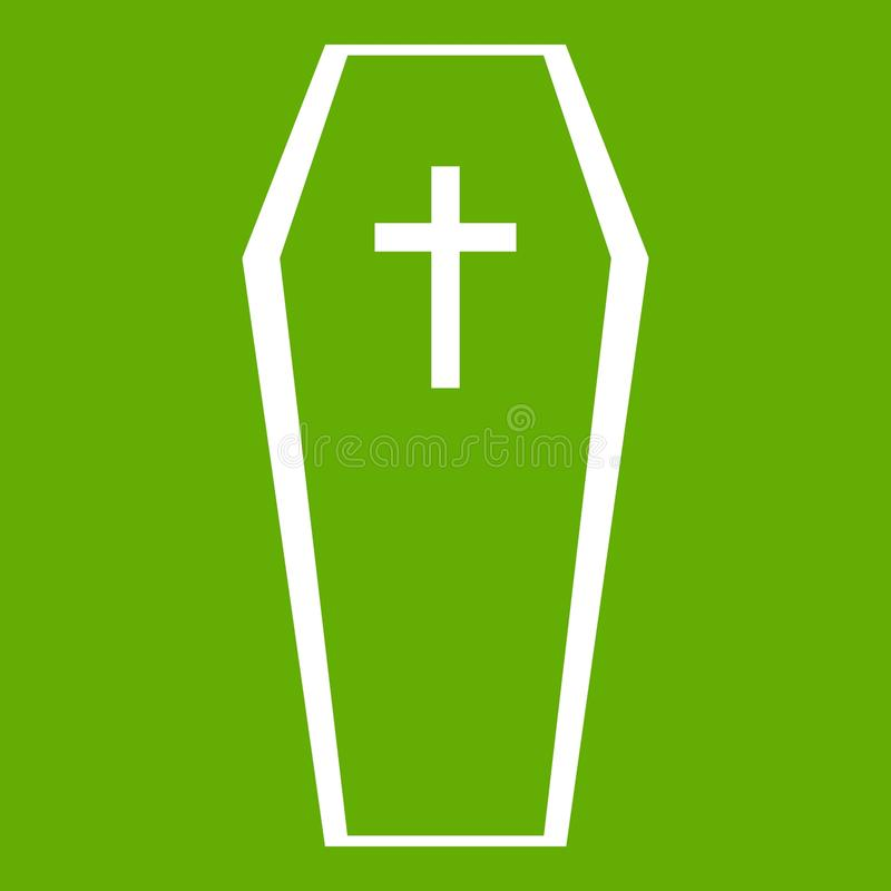 Verde dell'icona della bara illustrazione vettoriale