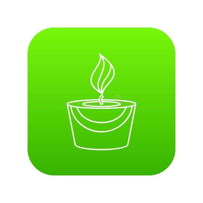 Verde dell'icona della candela royalty illustrazione gratis
