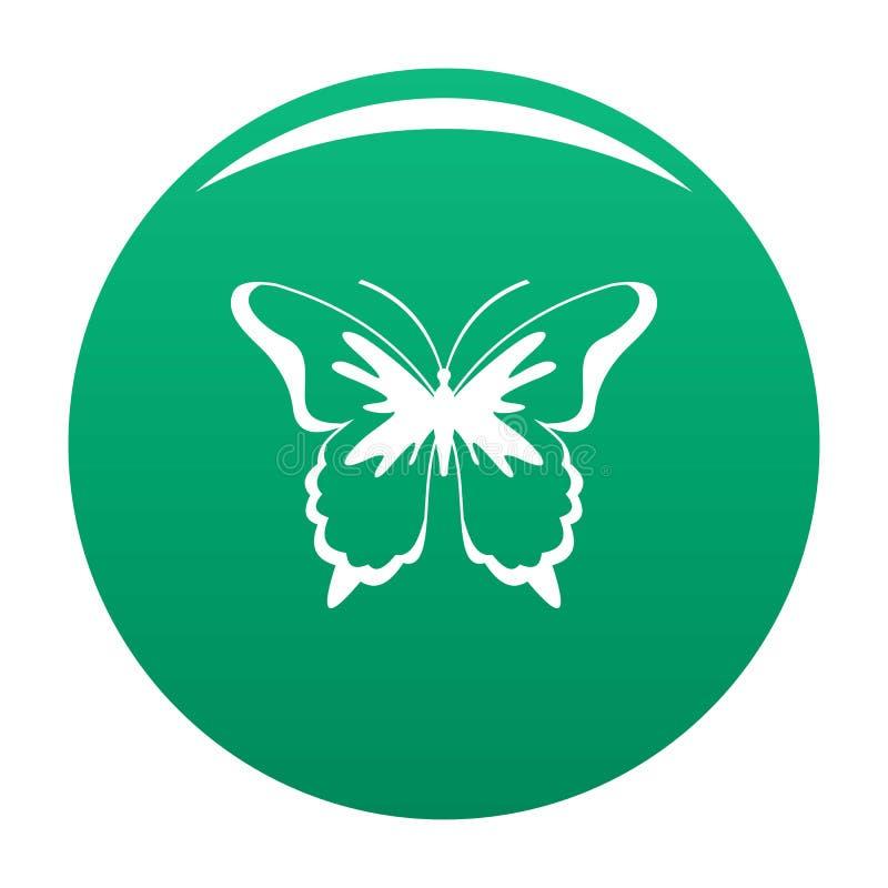 Verde dell'icona della farfalla dell'insetto illustrazione di stock