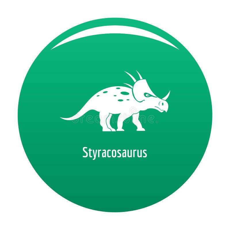 Verde dell'icona dello Styracosaurus royalty illustrazione gratis