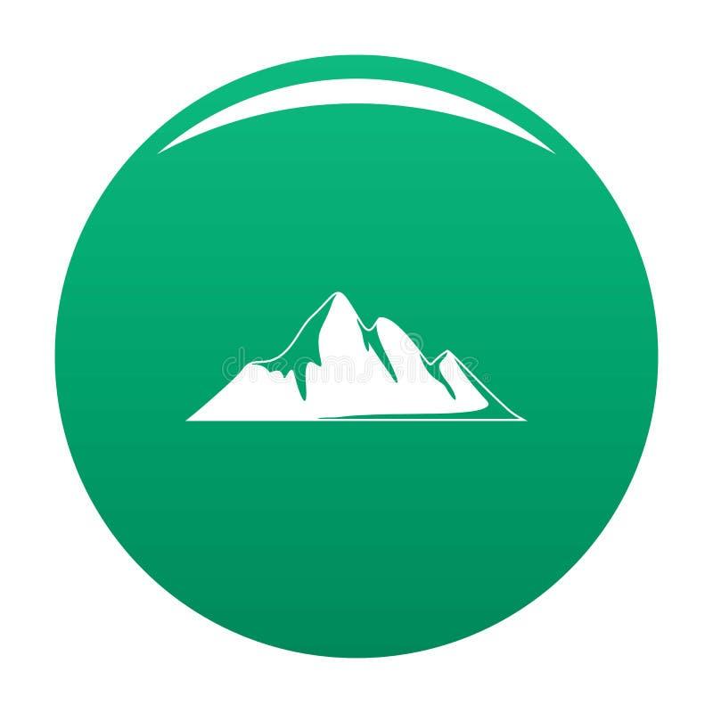 Verde dell'icona di avventura della montagna royalty illustrazione gratis