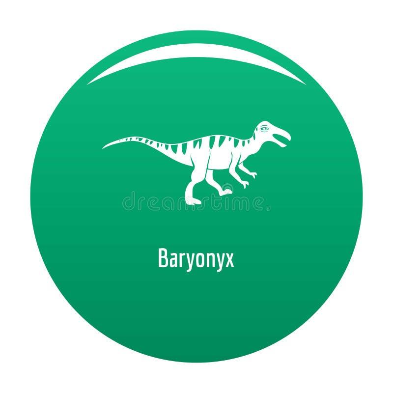 Verde dell'icona di Baryonyx illustrazione vettoriale