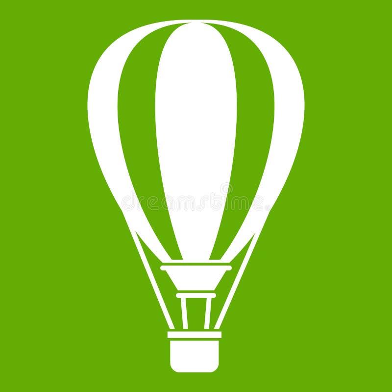 Verde dell'icona di impulso dell'aria calda illustrazione di stock