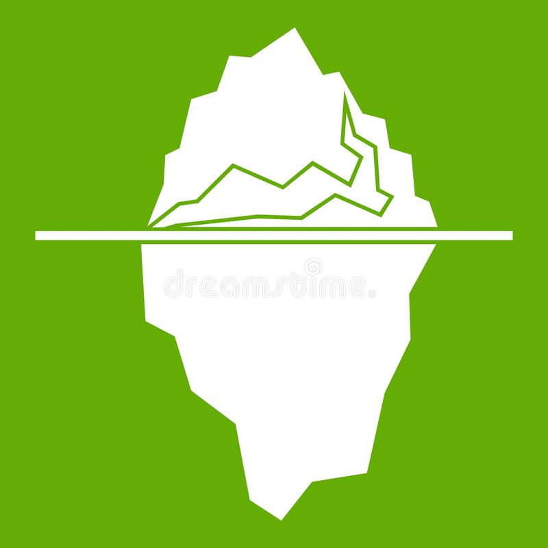 Verde dell'icona dell'iceberg illustrazione vettoriale