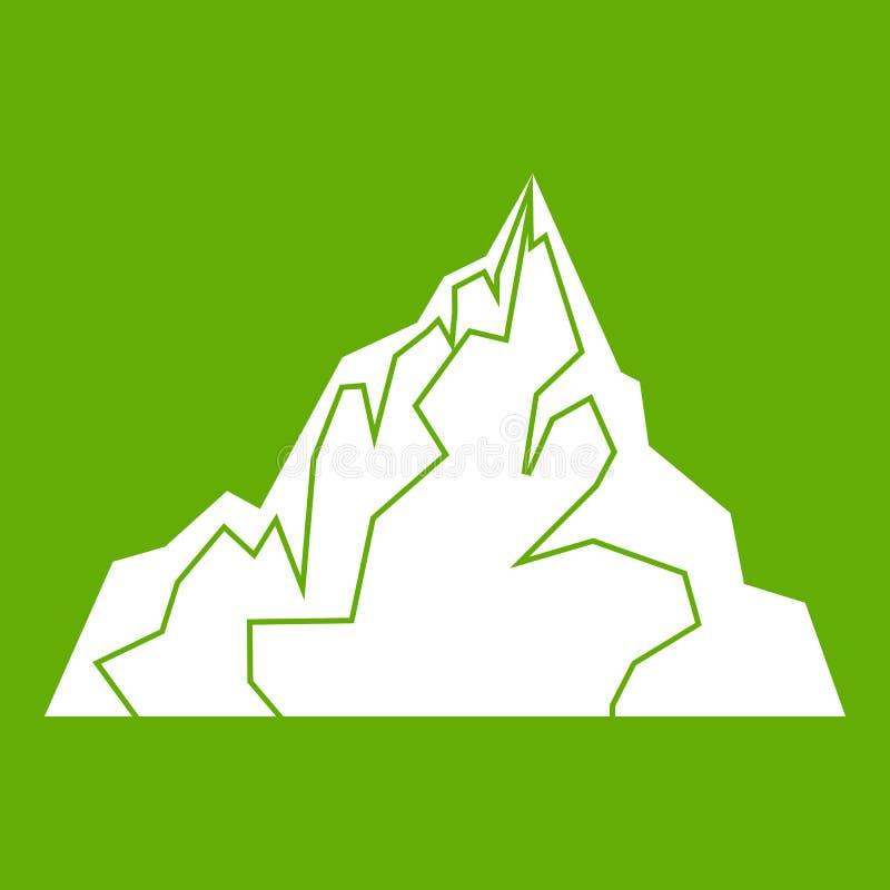 Verde dell'icona dell'iceberg royalty illustrazione gratis