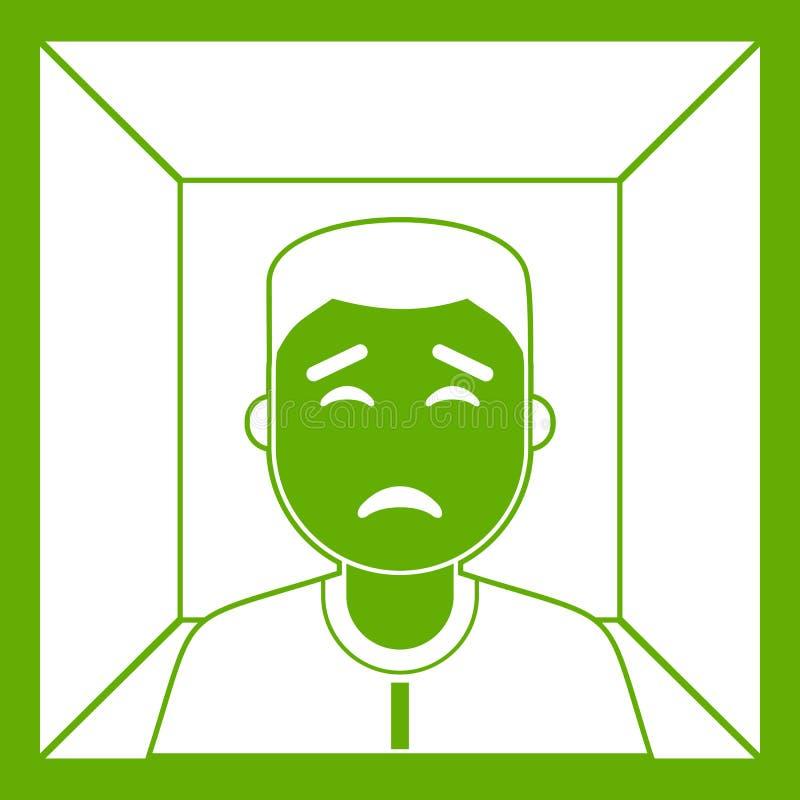 Verde dell'icona dell'uomo illustrazione vettoriale