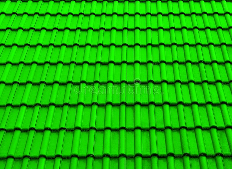 Verde dell'ombra del tetto di struttura fotografia stock
