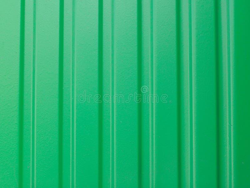 Verde della foglia del metallo del fondo, profilo del ferro fotografia stock