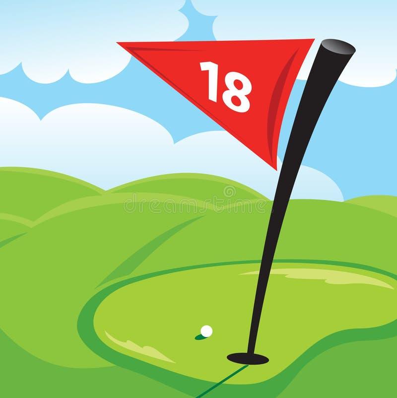 Verde di golf royalty illustrazione gratis