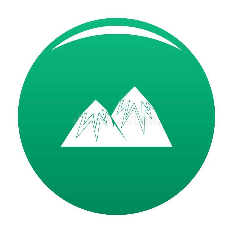 Verde di punta di vettore dell'icona della neve illustrazione vettoriale