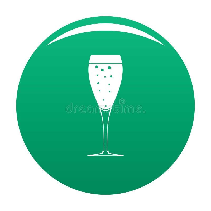 Verde di vetro completo dell'icona illustrazione di stock