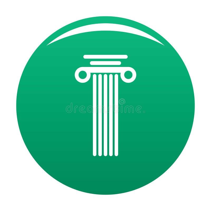 Verde di vettore dell'icona della colonna quadrata royalty illustrazione gratis