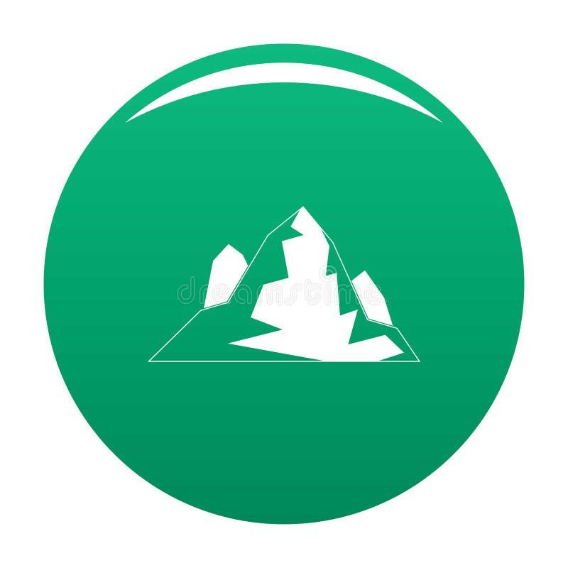 Verde di vettore dell'icona dell'iceberg illustrazione vettoriale