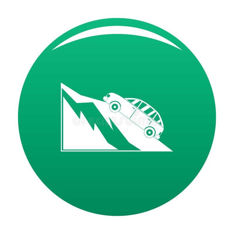 Verde di vettore dell'icona di incidente della montagna illustrazione di stock
