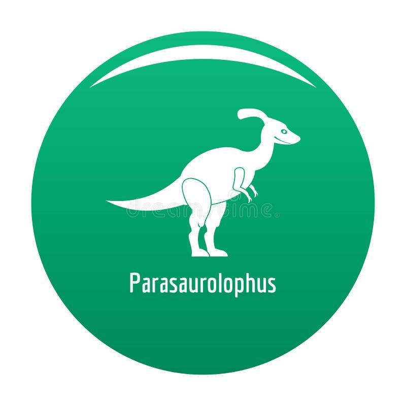 Verde di vettore dell'icona di Parasaurolophus illustrazione di stock