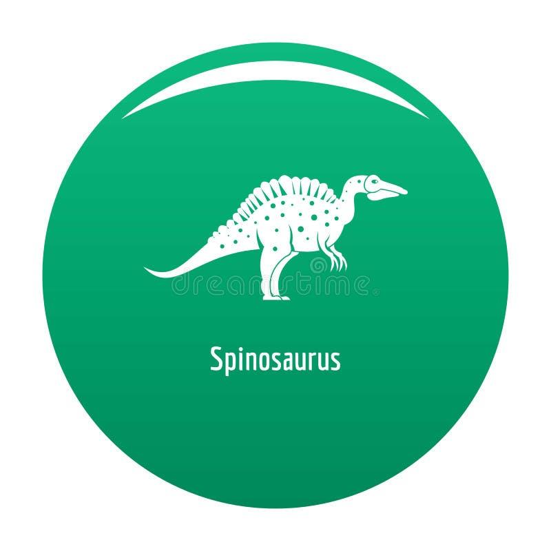 Verde di vettore dell'icona di Spinosaurus illustrazione di stock