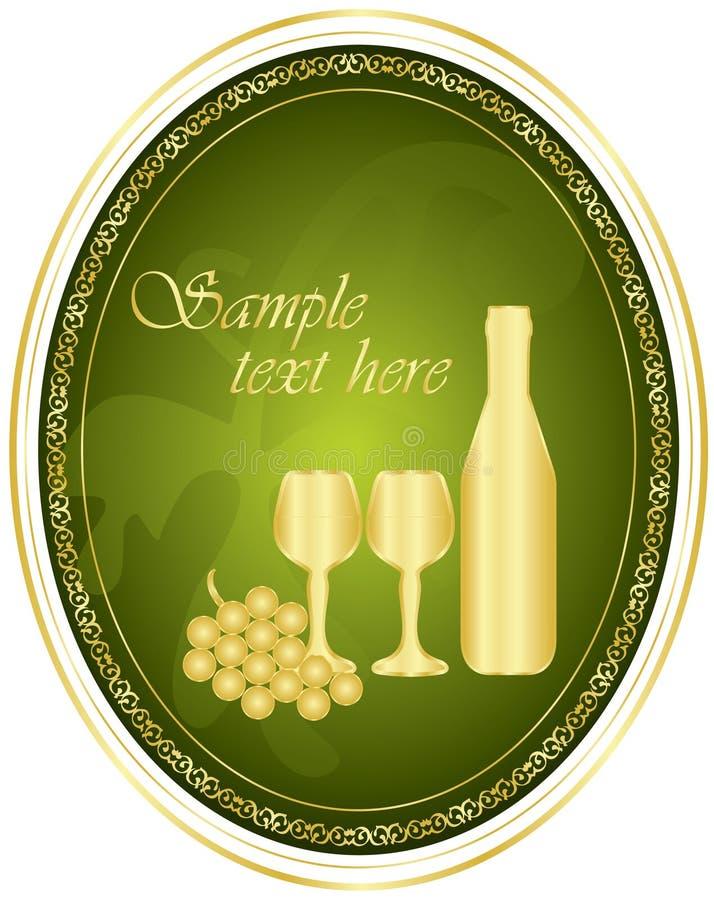 Etichetta del vino immagini stock libere da diritti