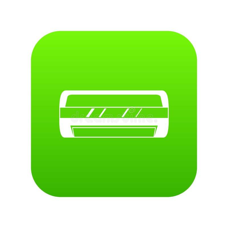 Verde digital de condicionamiento del icono partido del sistema ilustración del vector