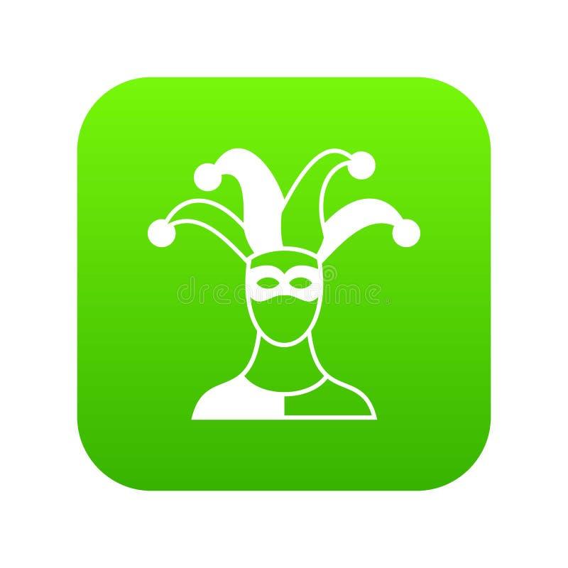 Verde digital del icono del bufón ilustración del vector