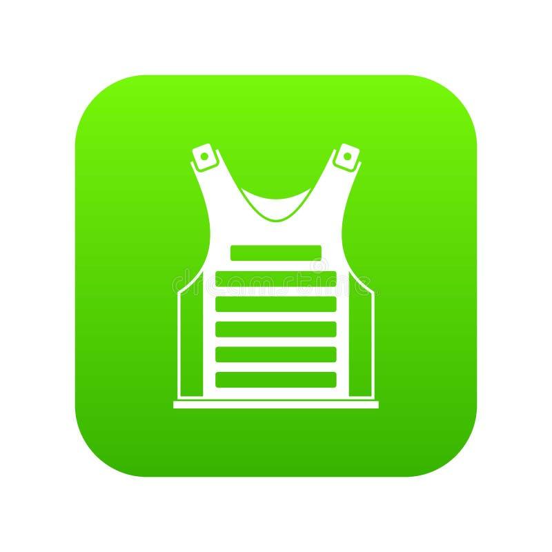 Verde digital del icono del chaleco de Paintball ilustración del vector