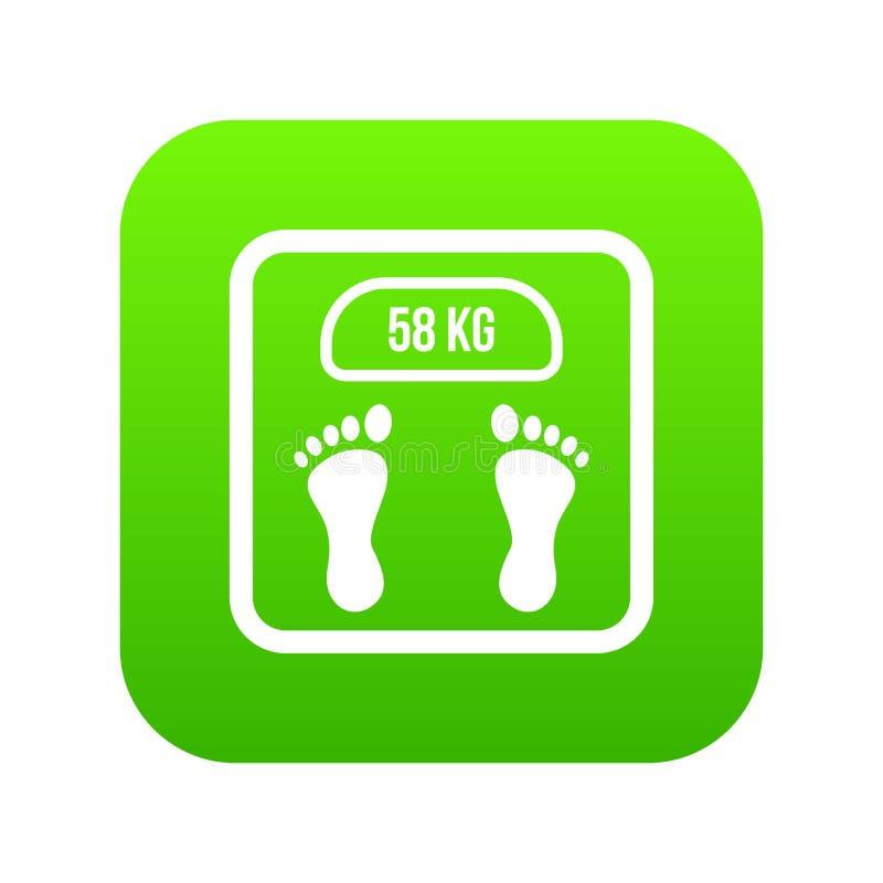 Verde digital del icono de la escala del peso stock de ilustración