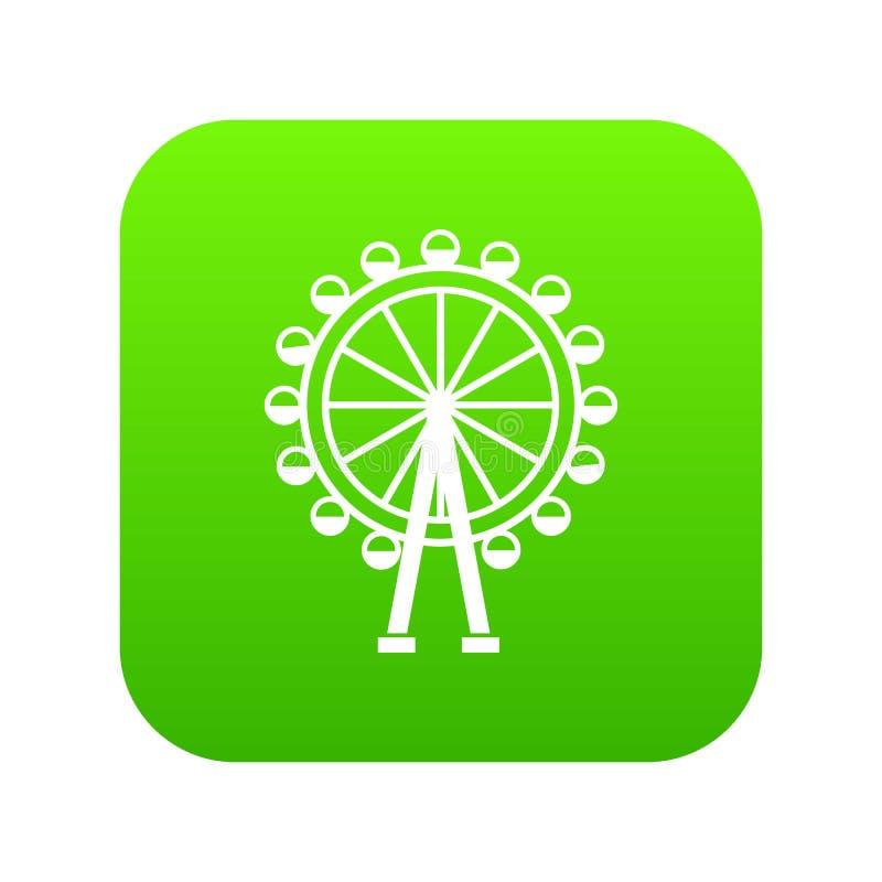 Verde digital del icono de la noria libre illustration