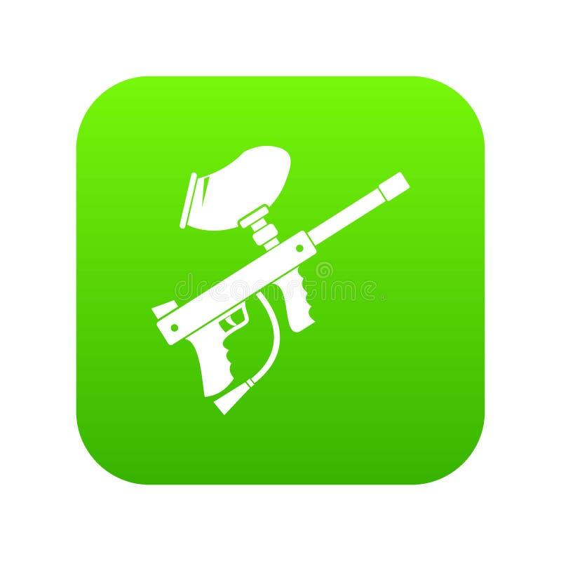 Verde digital del icono del marcador de Paintball ilustración del vector