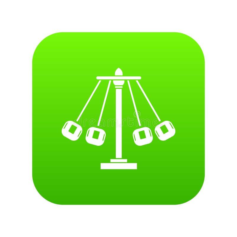 Verde digital del icono del paseo del oscilación del carnaval stock de ilustración
