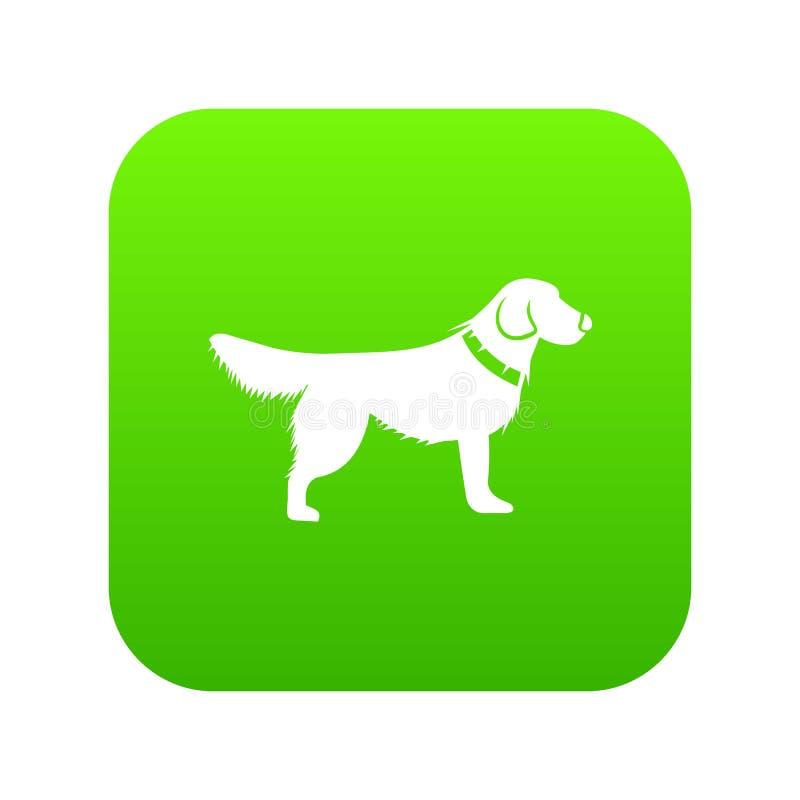 Verde digital del icono del perro ilustración del vector