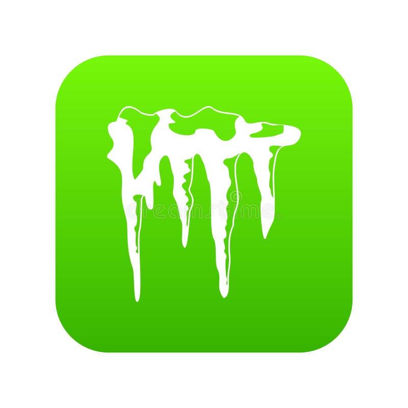 Verde digital do ícone dos sincelos ilustração royalty free