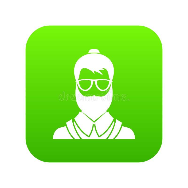 Verde digital do ícone do homem de Hipsster ilustração royalty free