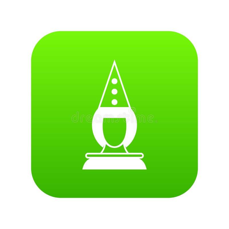Verde digital do ícone do palhaço do pierrô ilustração do vetor