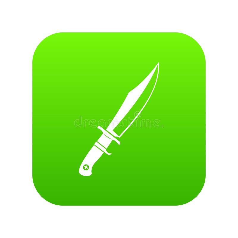 Verde digital do ícone do punhal ilustração royalty free