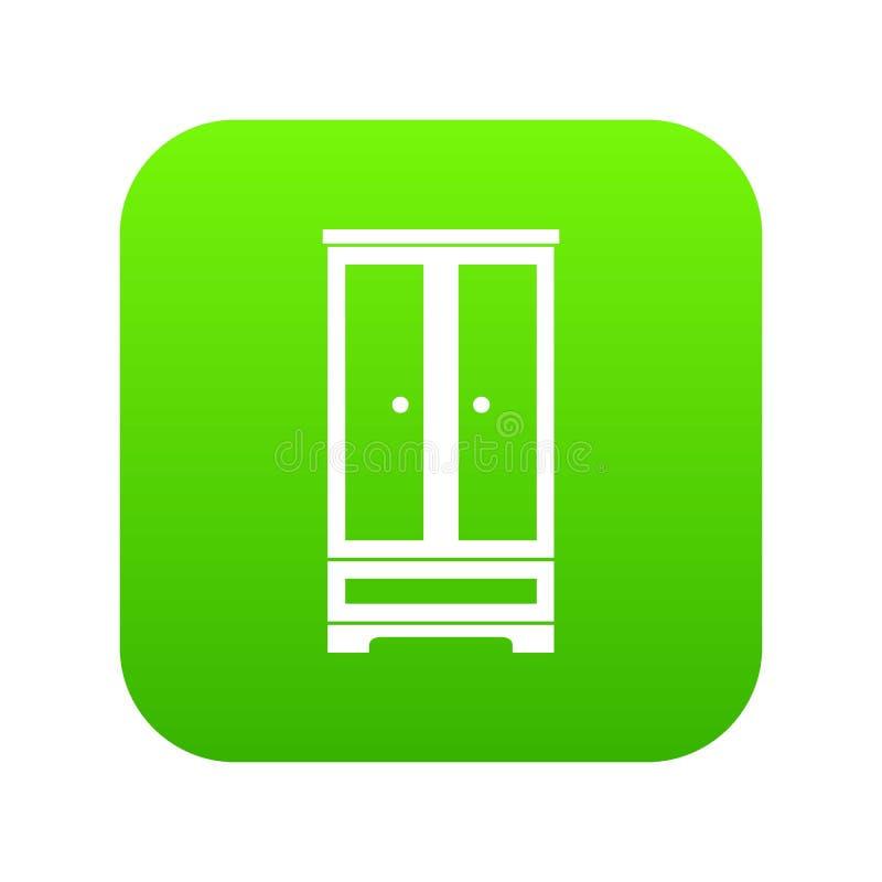Verde digitale dell'icona del guardaroba illustrazione di stock