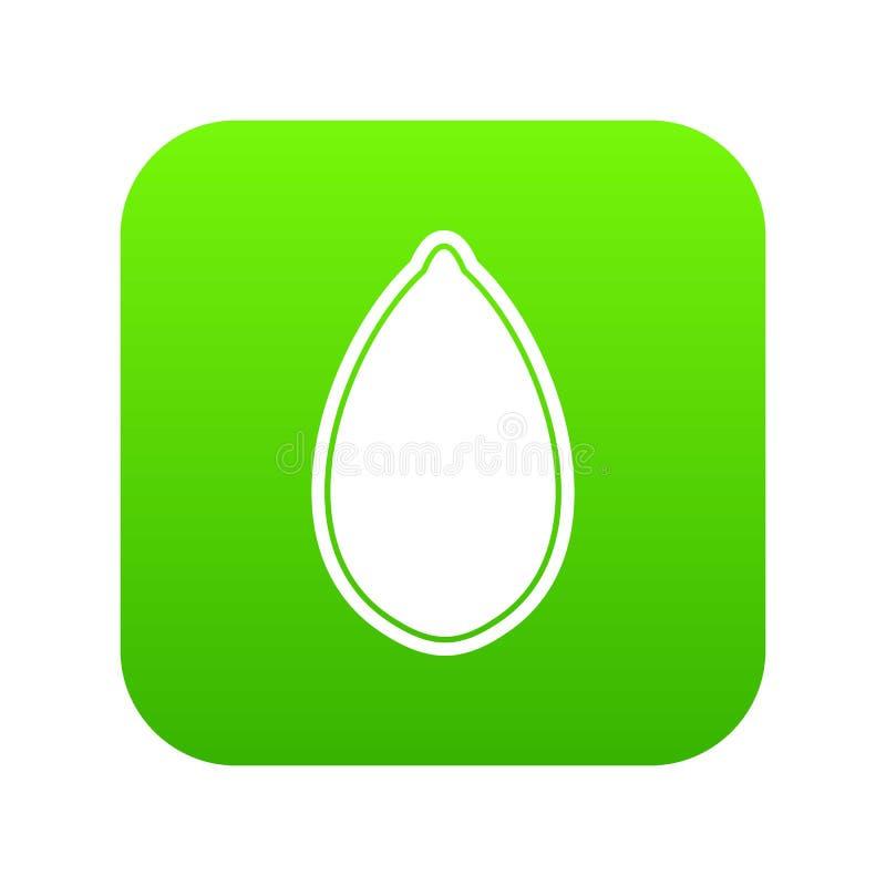 Verde digitale dell'icona del seme di zucca illustrazione di stock